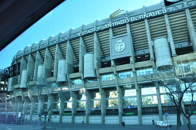 Estadio Santiago Bernabéu, the stadium where world famous football (soccer) team Real Madrid plays its games.