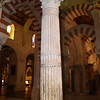 This alabaster column inside the Mezquita dates back to the 3rd Century A.D. The dark spot at about shoulder height is dirt from the hands of the thousands of people who touch this old column.
