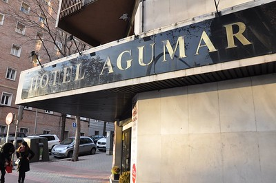 The outside of the Hotel Agumar, the place Class XV called home for one night.