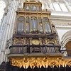 The second pipe organ inside the Mezquita. This one dates to the 17th century and has fewer pipes the first.