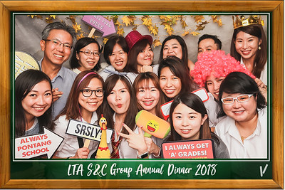 LTA S&C Group Ammual Dinner 2018 | © www.SRSLYPhotobooth.sg