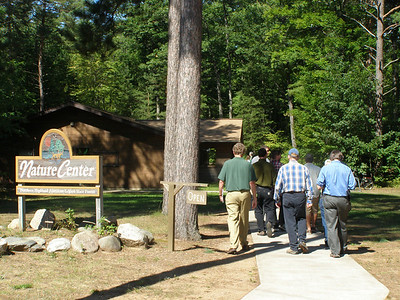 """The group heads to the Crystal Lake Nature Center for an exhibition of the """"Drawing Water"""" collection."""