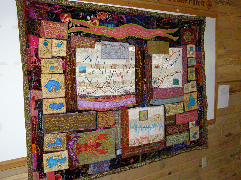 Perhaps the world's only limnological quilt! In addition to maps of many LTER research lakes, the quilt includes graphs of ice on/off data, smelt and yellow perch abundance, and more!