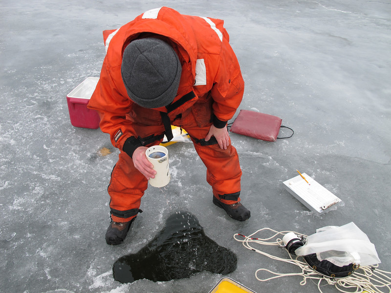 ...more plankton in a winter water sample than he's seen in ten years.