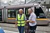 Our guide for the tour of Broombridge Depot was Dave Rooney (left) seen here chatting to LUAS Driver Instructor Eddie Byrne at Broombridge.  Sat 07.07.18