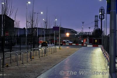 Broombridge Tram stop. Cycle racks. Sat 02.12.17