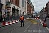 LUAS temporary crossover (TEC) at Abbey Street. Thurs 30.06.16