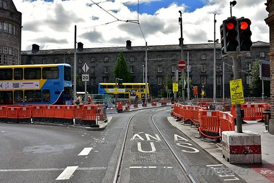 At the end of Hawkins Street, trams will turn right into College Green. Sat 24.06.17