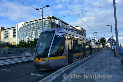 4003 stands at The Point. The first tram since the 21st May. Thurs 30.06.16