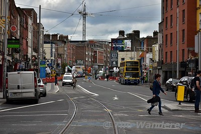 """Looing east along Parnell Street. You can see the """"loop line"""" spur coming in on the right hand side. Sat 24.06.17"""