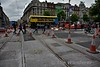 New connection installed at Abbey Street / O'Connell St. Jct. for trams to access the Red and Green lines. Thurs 30.06.16