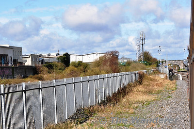 Viewed from a passing RPSI Special train you can see Broombridge Station in the distance. LUAS Cross City will use the wasteland behind the fencing for its Tram Stop and Depot. Broombridge is regarded as the most unsafe station on the IE network with frequent anti-social behaviour. This was my second attempt to photograph the station as when I paid a visit on Saturday afternoon on foot there was a large group of youths hanging around on the platform. The camera stayed firmly in the bag and I got the first train out of the area. Sun 21.04.13