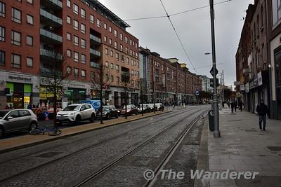 Completed LUAS Cross City tracks on Parnell Street. Sat 02.12.17