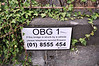 """Reflecting its former use as a railway line the bridge on the North Circular Road is marked as OBG1 which means """"Overbridge Galway Line 1"""". Its been a long time you could get a train to Galway from Broadstone. Sat 20.04.13"""