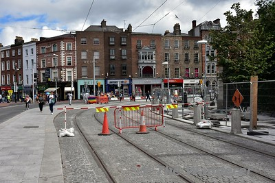 The start of the LUAS Cross City extension at St. Stephen's Green. Sat 24.06.17