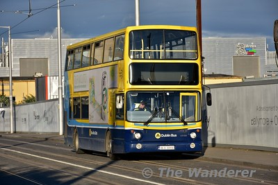AX456 on the LUAS Bus replacement service waits to work its next working to the City Centre. Thurs 30.06.16