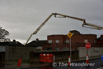 Construction work ongoing at Liam Whelan Bridge. Cabra stop will be located here. Wed 14.12.16
