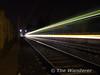 Blur of light. A tram leavs Cowper heading towards Beechwood. Sat 23.09.06