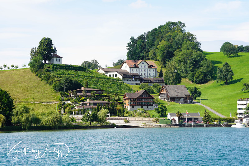 Elegant and amazing houses such as these built on the slopes of the hills and mountains, or on the banks of Lake Lucerne bring the magic of Switzerland to life - straight out of Grimm's Fairy Tales!