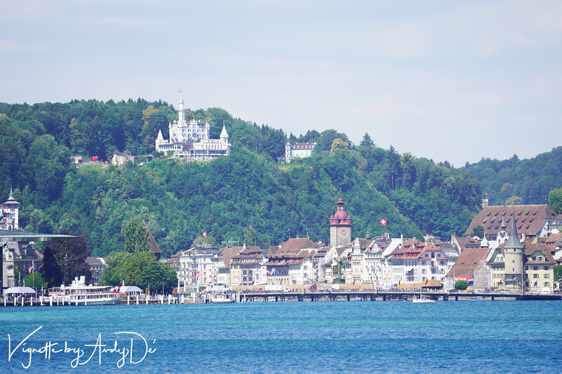 What makes Lucerne magical are historical palaces and castles like these perched on the mountains as well as some of the world's most coveted real-estate on the banks of Lake Lucerne!