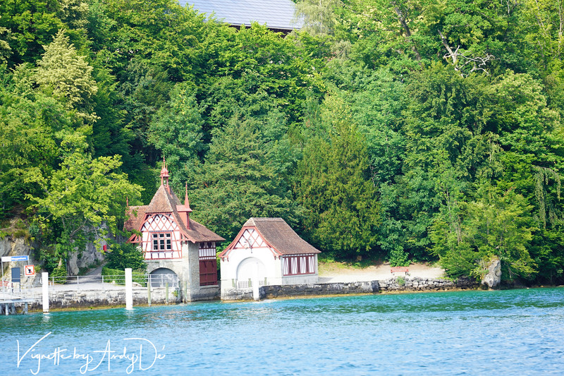 A quaint little Chalet on the banks of Lake Lucerne which beckoned as we passed by on our Cruise Boat to Mount Rigi!