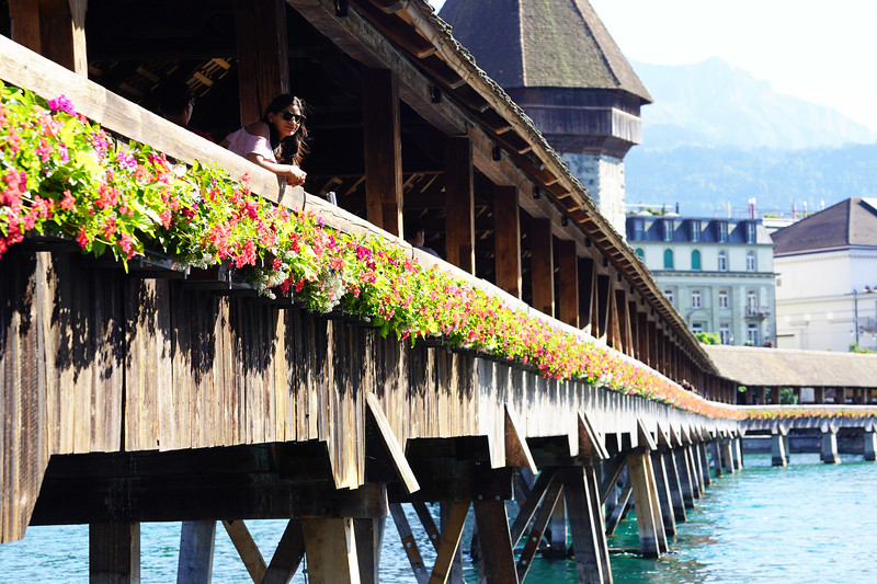 The medieval CHAPEL BRIDGE is the centerpiece of this magnificent city that will take your breath away, and is one of the oldest covered wooden bridges in Europe. The excitement and the enthusiasm it triggers in tourists from all over the world is a sight to behold!