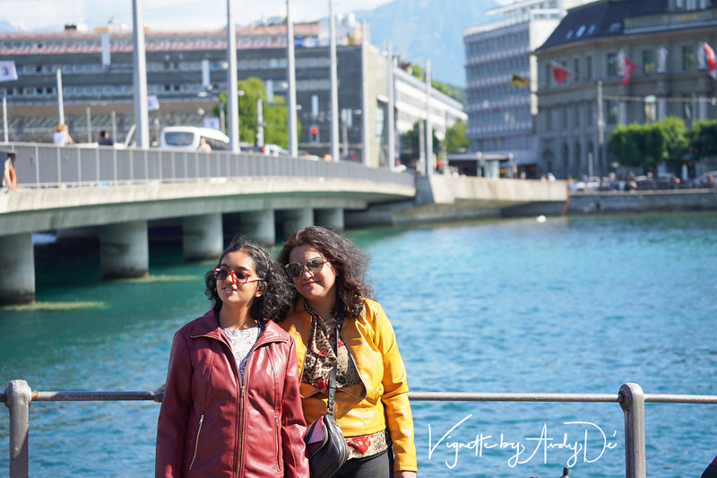 Ma and her lassie taking in the sights and sounds of magical Lucerne!