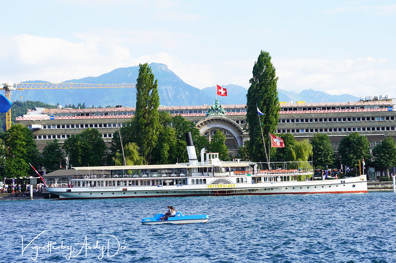 The historic building that houses the Lucerne railway station today is impressive and provides a compelling backdrop for many a photo-op!