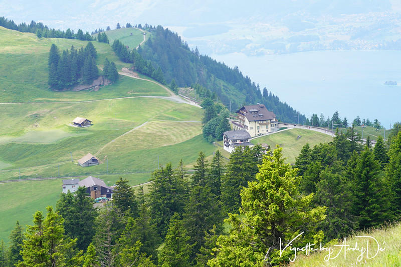 Vistas from the apex of MOUNT RIGI, which presented a breathtaking panorama of the Swiss Plateau as far as the Black Forest.