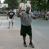 The LUK 20th Annual Common Ground Basketball Tournament was held on Saturday, August 10, 2019 at JoAnne Fitz Memorial Playground in Fitchburg. Haming it up for the camera during the tournament is referee Silas L Dobson Jr. SENTINEL & ENTERPRISE/JOHN LOVE