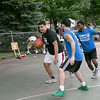 The LUK 20th Annual Common Ground Basketball Tournament was held on Saturday, August 10, 2019 at JoAnne Fitz Memorial Playground in Fitchburg. Alex Flores tries to drive to the basket while covered by Carlos Figeueroa during the tournament. SENTINEL & ENTERPRISE/JOHN LOVE