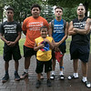 The LUK 20th Annual Common Ground Basketball Tournament was held on Saturday, August 10, 2019 at JoAnne Fitz Memorial Playground in Fitchburg. Some the players posed for a picture during the tournament. From left is Joseph Stanford, Emiliano Pastorino, Gabriel Rivera, Adam Ramos and Jayden Lora, 9, all of Fitchburg. SENTINEL & ENTERPRISE/JOHN LOVE