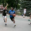 The LUK 20th Annual Common Ground Basketball Tournament was held on Saturday, August 10, 2019 at JoAnne Fitz Memorial Playground in Fitchburg. Antonio Ware drives to the basket while covered by Anthony Flores during the tournament. SENTINEL & ENTERPRISE/JOHN LOVE