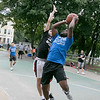 The LUK 20th Annual Common Ground Basketball Tournament was held on Saturday, August 10, 2019 at JoAnne Fitz Memorial Playground in Fitchburg. Antonio Ware puts up a shot while covered by Anthony Flores during the tournament. SENTINEL & ENTERPRISE/JOHN LOVE