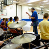 JOED VIERA/STAFF PHOTOGRAPHER-Newfane, NY-Band Teacher Chris Hart conducts Newfane High School's Jazz Ensemble during a performance for Newfane Elementary Students.