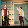 "JOED VIERA/STAFF PHOTOGRAPHER-Lockport, NY-Jason Mussachio and Hilda Myer-Post play Antipholus of Syracuse and Dromio of Ephesus during Curtains Up Productions presentation of William Shakespeare's ""The Comedy of Errors"" Thursday night."