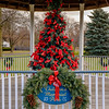 Joed Viera/Staff Photographer-Ribbons fill the Christmas tree under the gazebo at Childrens Memorial Park in early December.