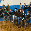 Joed Viera/Staff Photographer-Newfane High School's jazz band play tunes during a pep rally Friday afternoon. Friday was the last day of school for students before their two week long spring break.