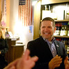 Joed Viera/Staff Photographer-Common Council President David Wohleben finds out he won re-election while walking into Republican headquarters at the Flight of Five Winery.