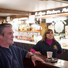 Joed Viera/Staff Photographer-Lance Boyer and Linda Petersen at the American Legion Post 410 bar . Earlier this year, the members of Post 410 conceded to the changing demographics of local veterans groups, and put their home of 71 years, at 42 Niagara St., up for sale. Friday is the last day the Post is set to be open.