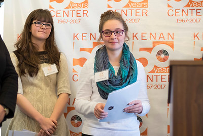 Joed Viera/Staff Photographer- Lockport, NY-Jessica Oates and Ashton Becker after reading their award winning essays at the Kenan House Gallery.