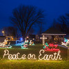 Joed Viera/Staff Photographer-Christmas decorations light up the area around the Olcott gazebo.