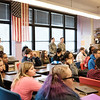 Joed Viera/Staff Photographer-In a Lockport High School Participation in Government class, students listen to Veterans answer their questions about serving in the Military.