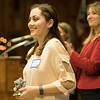 JOED VIERA/STAFF PHOTOGRAPHER-Lockport High School Senior June Aiu accepts a Quality Student Award during the ceremony Tuesday Night.