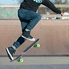 Joed Viera/Staff Photographer-Vincent Lombardo catches air during a kickflip at Railyard Skate Park.