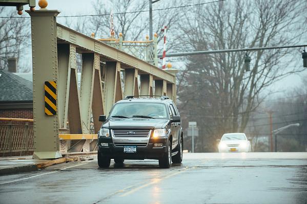 JOED VIERA/STAFF PHOTOGRAPHER- Middleport, NY-A car crosses the Middleport Bridge. Wednesday, March 25, 2015.