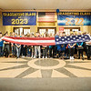 Joed Viera/Staff Photographer-Niagara Falls Air Reserve Station Honor Guard Members Sgt Ryan Lanighan and <br /> Smsgt Robert Hull perform a flag ceremony for North Park students Thursday morning during the school's Hometown Heroes presentation.