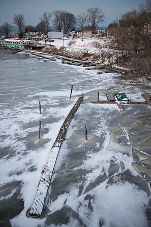 JOED VIERA/STAFF PHOTOGRAPHER-Olcott, NY-A view of a frosty Newfane Marina early Friday evening.