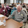 JOED VIERA/STAFF PHOTOGRAPHER-Gasport, NY- Bob Heschke cracks up at a joke told during the Johnson Creek Seniors bi-monthy Meeting Wednsday afternoon at the Hartland Volunteer Company's hall.