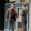 Joed Viera/Staff Photographer-Will Briggs and Ben Flaherty  perform as J.B. Biggley and J. Pierrepont Finch during Lockport High School's production of 'How to Succeed in Business Without Really Trying' Friday night.